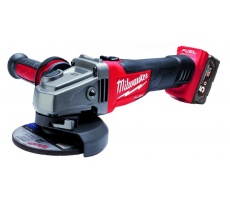 Meuleuse MILWAUKEE HD18 AG125-402C - Ø125mm 18V + 2 batteries 4.0Ah, chargeur, en coffret - 4933441507