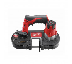 Scie à ruban MILWAUKEE M12 à 1 main - 2 batteries 4.0Ah 12 V, chargeur, coffret - 4933441805