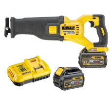 Scie sabre DEWALT 54V XR FLEXVOLT - 2 Batteries 6.0Ah, en coffret - Course 28,6 mm - DCS388T2