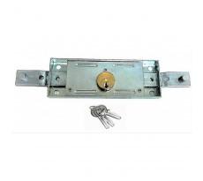 Serrure pour rideau métallique KLOSE BESSER Sortie coudée  - Avec 3 clés solides - 827