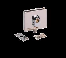 Serrure basse inox poli METALUX pour porte en verre - NM60411000