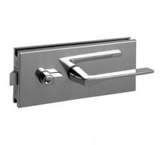 Serrure porte en verre METALUX à béquille carrée et plaque rectangulaire 77x185 mm - NM90451000