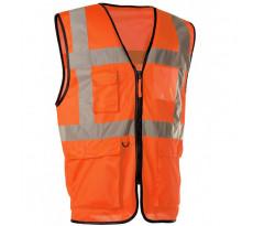 Gilet Haute visibilité Orange Multi-poches SINGER - GARO