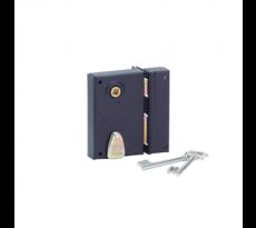 Serrure verticale à fouillot 4 gorgesTHIRARD - 70 x 110 mm - carré de 7 mm - droite - noir époxy - 133