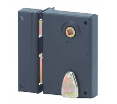 Serrure verticale à fouillot 4 gorgesTHIRARD - 70 x 110 mm - carré de 7 mm - gauche - noir époxy - 143