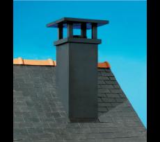 Sortie de toit TradInov POUJOULAT et embase d'étanchéité