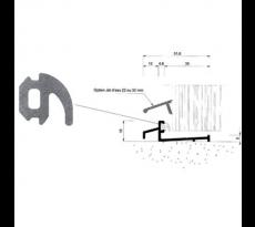 Joint dormant extérieur EPDM BILCOCQ - mètre linéaire - noir - GSL-J-CR2