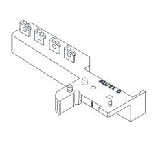 Sachet de 5 paires de plateforme large ABS Gris RAL9018 BILCOCQ - ALU2L-L10-S