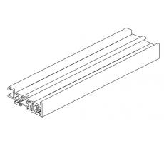 Seuil aluminium anodisé incolore rup. Pt. L.6m BILCOCQ - ALU2RT-NA