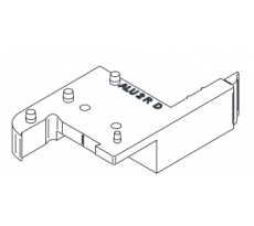 Sachet de 5 paires de plateforme rénovation ABS Gris RAL9018 BILCOCQ - ALU2R-L10-S