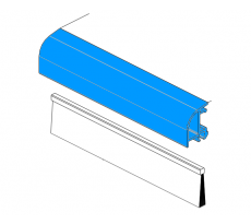 Capot aluminium anodisé incolore L.6m BILCOCQ - ALU2L-CA