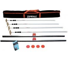Kit de protection de chantier HILAIRE ZipWall - 4 perches - ZIP-4PL