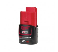 Batterie MILWAUKEE 12V 2Ah Red Li-Ion M12 B2 - 4932430064