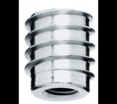 Insert bois 6 pans acier bichromaté M8 x 18 mm DESIGN PROD - Ø perçage 10.4mm - 16.1115.258