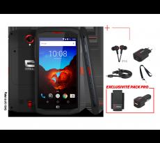 Smartphone Trekker X3 CROSSCALL - Pack Pro - housse + chargeur allume-cigare - TRX3.PK.BO.NR150