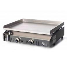 Plancha à gaz NEVADA 2 feux - Plaque INOX et caisson EPOXY - NV1