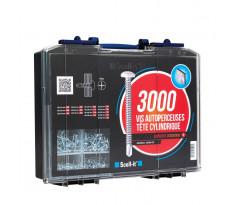 Coffret de 3000 vis autoperceuses TCC SCELLIT - empreinte cruciforme - COF003-TCC