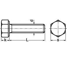 Vis à tête hexagonale MAURIN - filetée - 20211