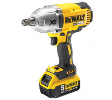 Boulonneuse à chocs DEWALT 18V 5.0Ah - XR Brushless 3 vitesses - 950Nm - DCF899P2