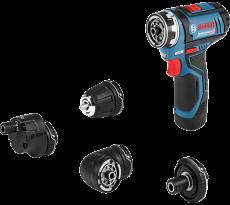 Perceuse/Visseuse BOSCH GSR 12 V-15 FC - Multifonction FlexiClick SET + 4 Accessoires - 06019F6000