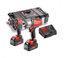 Lot 2 machines FACOM Perceuse 13mm 18V 5.0Ah + Clé à chocs 18V 5.0Ah + 2 batteries, chargeur, coffret - CL3.CHP18SP2PB