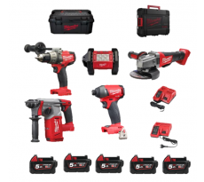 Powerpack MILWAUKEE 18V - M18 Expert 5 outils + accessoires - 4933451651