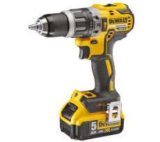 Perceuse visseuse à percussion DEWALT 18V 5.0Ah XR + 2 batteries, chargeur en coffret - DCD796P2