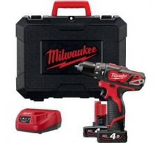 Perceuse à Percussion MILWAUKEE 12V 2 Vitesses 4Ah Red Lithium M12 BPD-402C - 4933441935