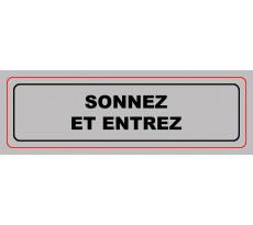 Panneau VISO Sonnez et entrez - 170 x 50 mm - S11