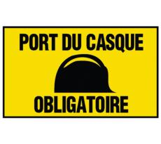 Panneau Port du casque obligatoire NOVAP - 300 x 200 mm - 4304342