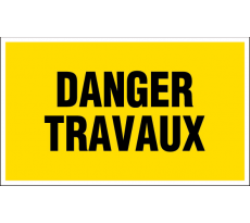 Plaque Danger travaux NOVAP - 330 x 200 mm - 4160214