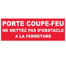 Plaque Porte coupe-feu NOVAP - 330  x 120 mm - 4140506