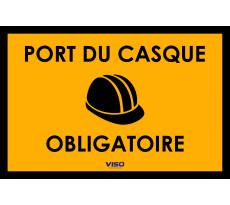 Panneau VISO - Port du casque obligatoire - 300 x 200 mm - PAKI300CAS