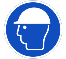 Disque VISO Casque de protection obligatoire - Ø 280 mm - DPO30
