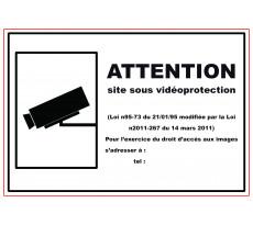 Plaque VISO - Site sous vidéo protection - 280 x 190 mm - LP32