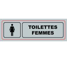 Plaque VISO - Toilettes Femmes - 170 x 50 mm - S33