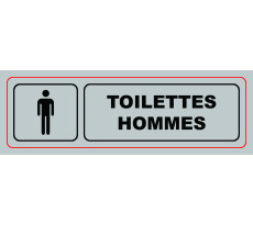 Plaque VISO - Toilettes Hommes - 170 x 40 mm - S32