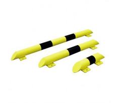 Butée anti-collision acier noir/jaune 1200x86 VISO platine Ø76 mm - PARK1200NJ