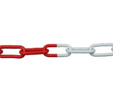 Chaîne acier rouge et blanc VISO - Ø6 mm - lg 15m - DIN233RB/CT