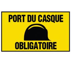 Panneau VISO - Port du casque obligatoire - 300 x 200 mm R43 - PAKI300CAS