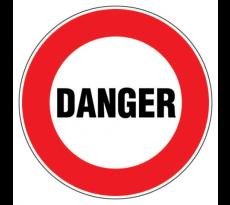 Disque VISO - Danger - Diam 300 mm - DP218