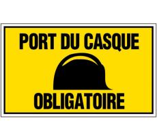 Plaque VISO - Port du casque obligatoire - 330 x 200 mm - GA43