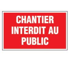 Plaque VISO - Chantier interdit au public - 330 x 200 mm - LP30