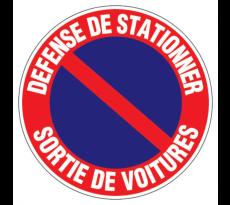 Disque VISO - Prière de ne pas stationner Sortie de véhicule - Diam 300 mm - DPE3