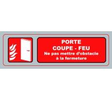 Panneaux VISO Porte coupe-feu Ne pas mettre d'obstacle à la fermeture - 170 x 50 mm - S40