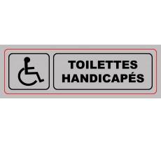 Plaque VISO - WC handicapés - 170 x 40 mm - S34