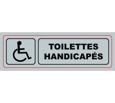 Plaque VISO - Toilettes Handicapés - 170 x 50 mm - S34
