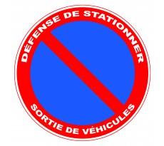 Disque VISO - Défense de stationner Sortie de véhicule - Diam 300 mm - DPE3