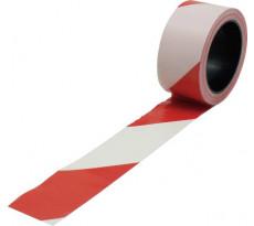 Bande de balisage VISO Blanche et rouge - 100 m x 50 mm - RSNA01RB