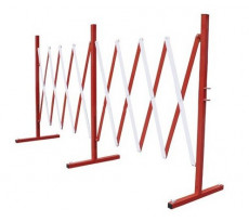 Barrière extensible rouge et blanc VISO - acier - rouge et blanc - 400  x 94 mm - BAR4000